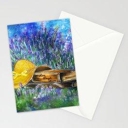 Lavender under the night sky Stationery Cards