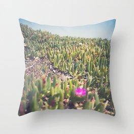 Maria Island Succulent Field Throw Pillow