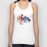 teen titans Tank Tops featuring [ Teen Titans ] Robin, Starfire, Raven, Beast Boy and Cyborg by Vyles