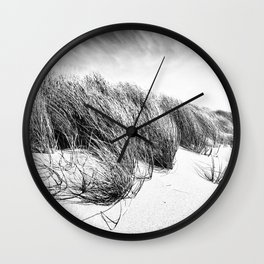 Sea and Sand, Kellogg Beach Dunes, Crescent City, Del Norte, California Wall Clock