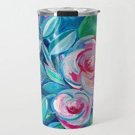 Tropical Camellia Extravaganza - oil on canvas Travel Mug