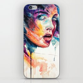sheets of colored glass iPhone Skin