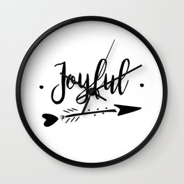 Joyful Lettering-PM coll Wall Clock
