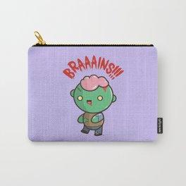 Zombie Kawaii | BRAAAINS!!!! BRAINS!! Halloween Carry-All Pouch