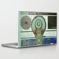 moon phase Laptop & iPad Skins featuring Phase:4 by Matthew Jorde
