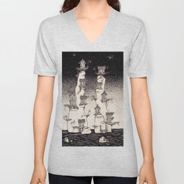 The old towers Unisex V-Neck
