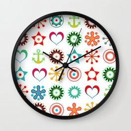 Marine abstract ornament 2 Wall Clock