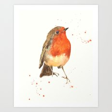 Robin, robin redbreast, songbird, garden birds, Christmas, hostess gift Art Print