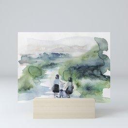 on my way home Mini Art Print