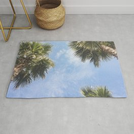 The sun and the palms Rug