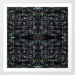 Green Lights At Night Art Print