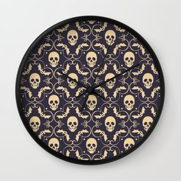 Happy halloween skull pattern Wall Clock