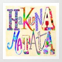 hakuna Art Prints featuring Hakuna Matata by Fimbis