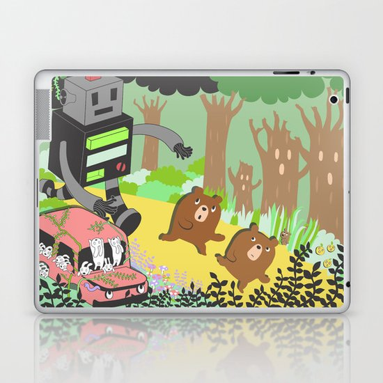 Run Run Run Laptop & iPad Skin