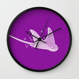 Apathetic Stingray Wall Clock