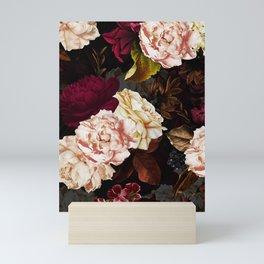 Vintage & Shabby Chic - Midnight Rose and Peony Garden Mini Art Print