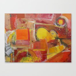 Abstract Yellow and Red Canvas Print
