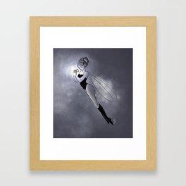 Star and fairy Framed Art Print