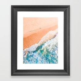 A Shadow on the beach Framed Art Print