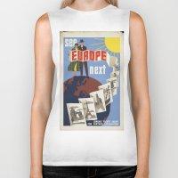 europe Biker Tanks featuring EUROPE by Kathead Tarot/David Rivera