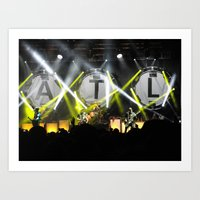 all time low Art Prints featuring All Time Low Live by andiechrist