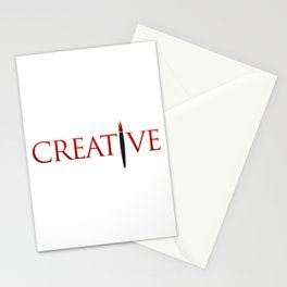 Creative Word with Pen Stationery Cards
