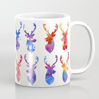 reindeer Mugs featuring Reindeer by Verismaya