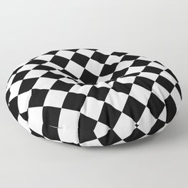 Rhombus (Black & White Pattern) Floor Pillow