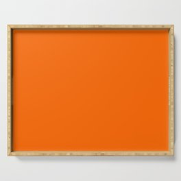 Intense Orange Amberglow Current Fashion Color Trends Serving Tray