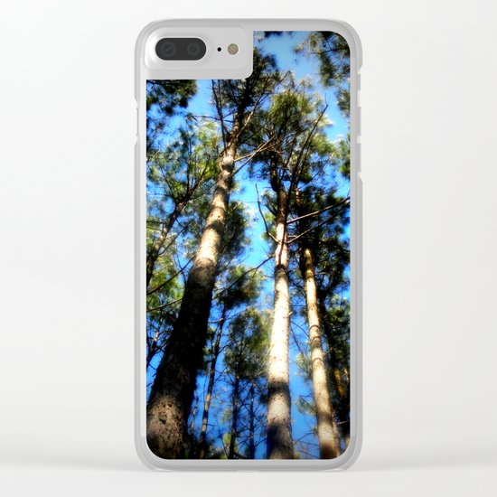 TREES ( A Blessed Glance Up) Clear iPhone Case