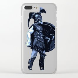 Greek hoplite warrior Clear iPhone Case