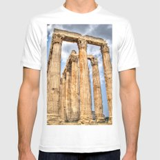 Temple of Zues MEDIUM Mens Fitted Tee White