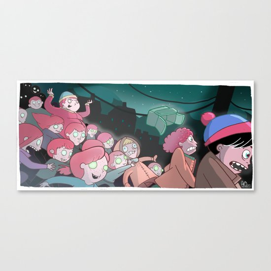 Night of the Living Gingers Canvas Print