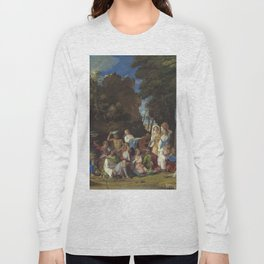 Giovanni Bellini and Titian The Feast of the Gods 1514 1529 Painting Long Sleeve T-shirt