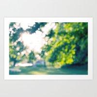 Tree Bokeh Art Print
