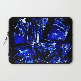Liquid Cobalt Metal Laptop Sleeve