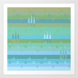 Cool Fields Pattern Art Print