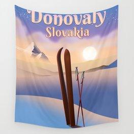 Donovaly Slovakia ski poster travel poster. Wall Tapestry