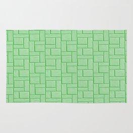 Green Block Rug