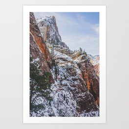 Zion's Great White Throne Art Print