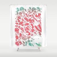 ponyo Shower Curtains featuring Ponyo by drawnbyhanna