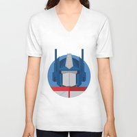 optimus prime V-neck T-shirts featuring Optimus Prime Dots.  by Federico Giuliani