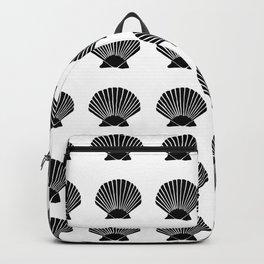 Black Seashell Backpack