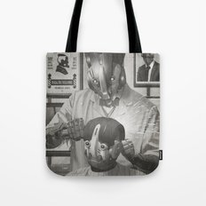 Cyber Barber Tote Bag