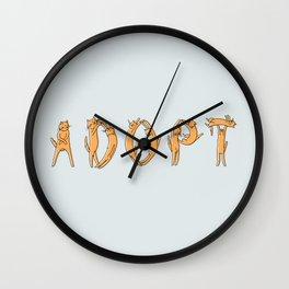 Adopt a Cat Wall Clock