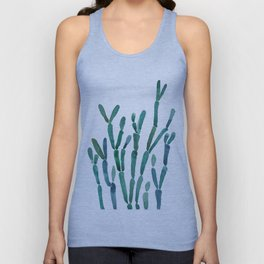 Succulent rhipsalis watercolor Unisex Tank Top