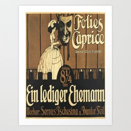 ein lediger ehemann folies caprice vintage Poster Art Print