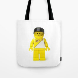 Yellow astronaut Minifig with his visor up Tote Bag