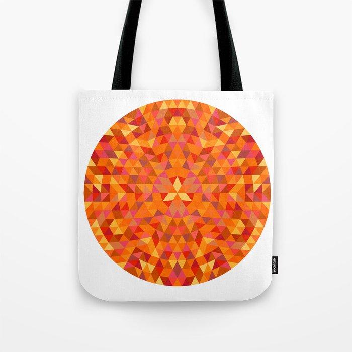 Triangle Sun Mandala Tote Bag