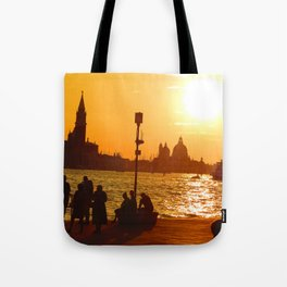 Sunset in Venice Tote Bag